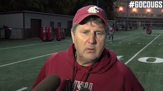 Mike Leach after practice Oct. 17