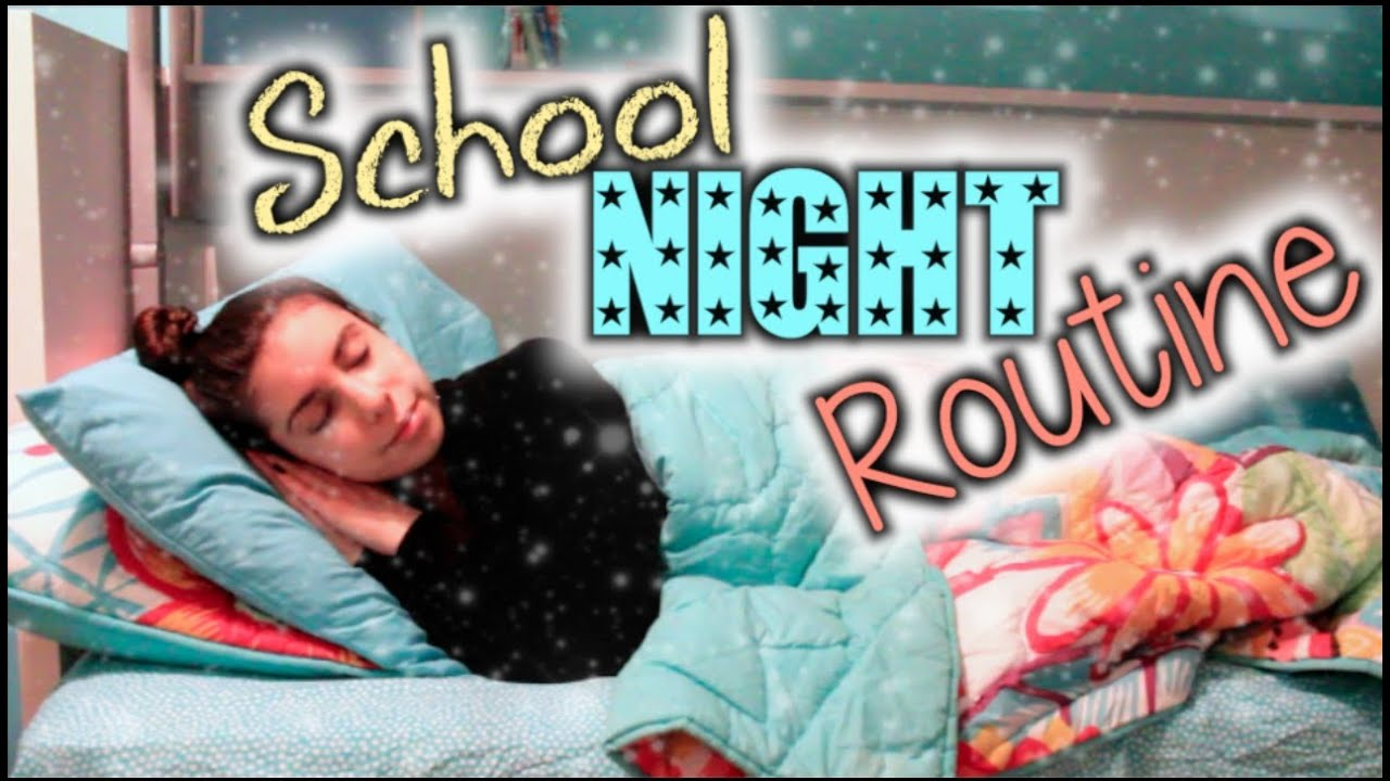 My Night Routine for School! - YouTube
