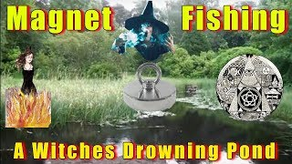 magnet fishing witches drowning pond history found 2018