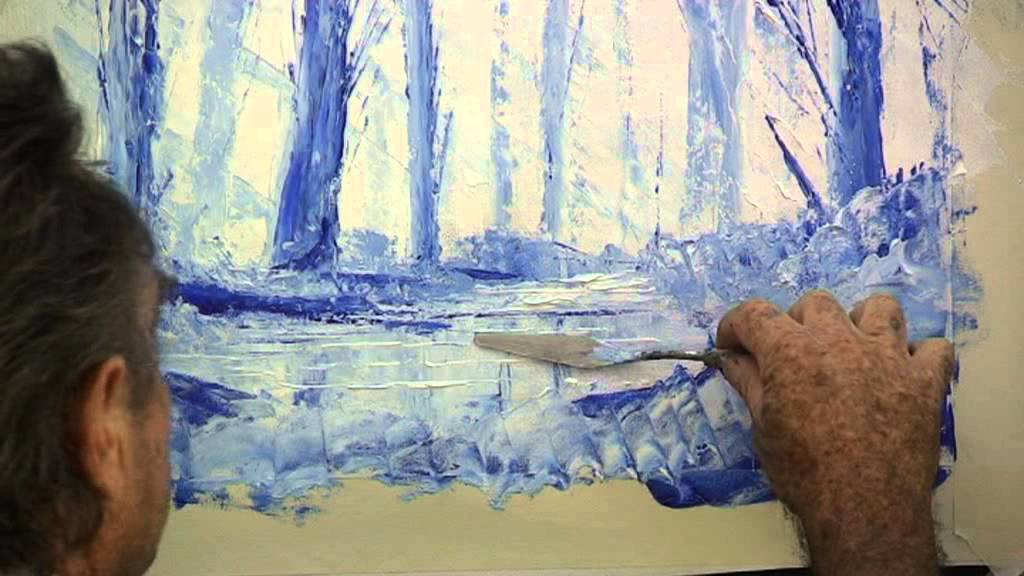 How To Paint With Knife Youtube