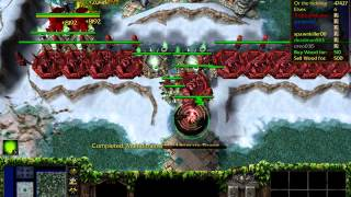 Warcraft 3: Troll and Elves SPEED X4 (Elf Gameplay)