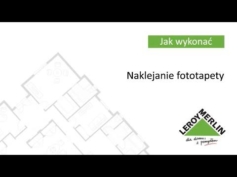 Naklejanie fototapety