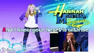 hannah montana forever wherever i go karaoke HD