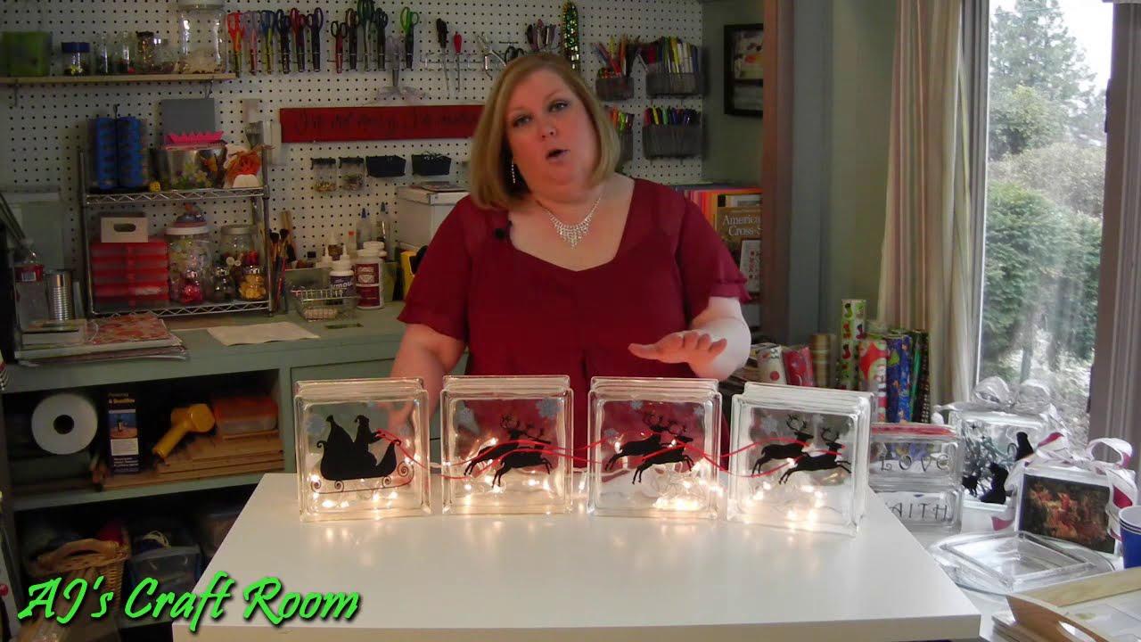 Lighted Glass Blocks With Vinyl Aj S Craft Room Holiday