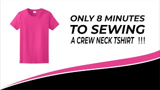 8 menit membuat kaos . only 8 minutes to sewing a crew neck T shirt