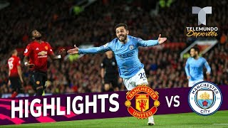 Manchester United vs. Manchester City: 0-2 Goals & Highlights | Premier League | Telemundo Deportes