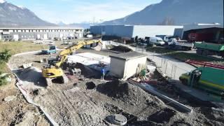 Timelapse : Construction de la station GNV de Saint-Pierre en Faucigny