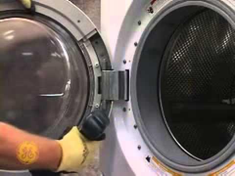Ge Front Load Washer Door Asm Latch Hinge Youtube