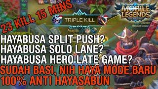 HAYABUSA TUH EARLY GAME SUDAH GA JAMAN LATE GAME - Mobile Legends Indonesia