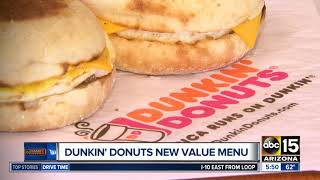 Dunkin Donuts rollout new value menu