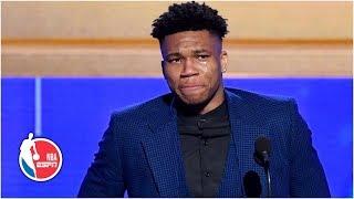 Giannis emotional thanking Bucks, family after winning MVP honors   2019 NBA Awards