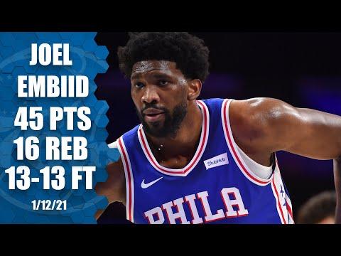 Joel Embiid scores 45 points in Philadelphia 76ers OT win vs. Miami Heat [HIGHLIGHTS] | NBA on ESPN