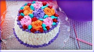 জন্মদিনের কেক    Birthday Cake    Bangladeshi Decoration Cake    Bangladeshi Birthday Cake Recipe
