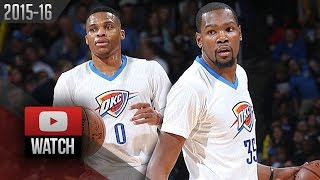 Kevin Durant & Russell Westbrook Full Highlights vs Lakers (2015.12.19) - TOO EASY!