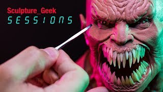 Sculpting Baraka from Mortal Kombat 11 in clay Sculpture_Geek Sessions Episode 4