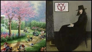 Painter Continues To Paint Pop Culture Characters Into Old Thrift Store Paintings