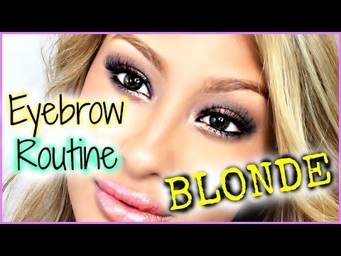 Eyebrow Routine: Blonde Hair- 2 ways