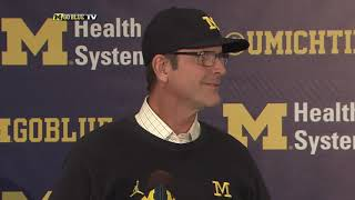 Jim Harbaugh Michigan State Week Press Conference