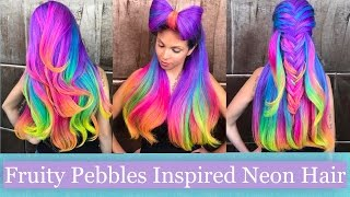 Fruity Pebbles-Inspired Neon Hair