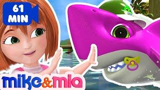 Baby Shark Doo Doo Doo Doo   Sing and Dance   Animal Songs   Nursery Rhymes by Mike and Mia