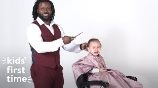 Kids Experience Their First Haircut | Kid's First Time | HiHo Kids