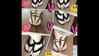 Transformando um chinelo em várias sandálias