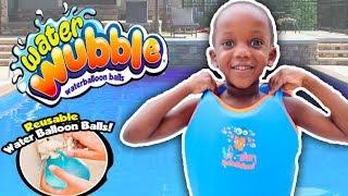 Wubble Bubble Water Ballon Fight At The Pool