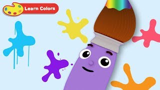 Learn Colors with Petey Paintbrush | Early Learning Videos for Baby Brain Development & Education