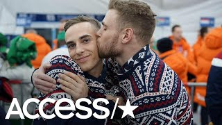 2018 Winter Olympics: Gus Kenworthy & Adam Rippon Share A Smooch At The Opening Ceremony! | Access