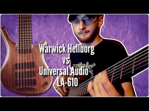 Warwick Thumb NT 6 bass through Hellborg and UA LA-610 preamps
