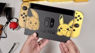 Pikachu & Eevee Edition BUNDLE: Nintendo Switch Unboxing! (Let's Go, Pikachu)