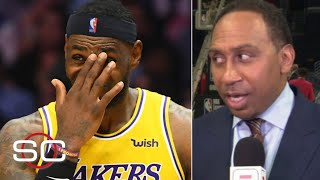 Stephen A. reacts to the Lakers' loss to the Clippers: Is LeBron rusty or aging? | SportsCenter