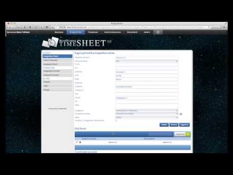 Timesheet 3.0 video tutorial: inserimento nuovo cliente