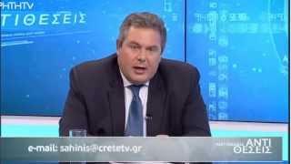 Ο Πάνος Καμμένος στο Κρήτη TV