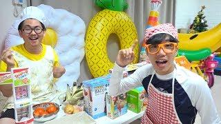 보람이의 콩순이 카페놀이 장난감 놀이 Boram Swimming Pool Water Slide & Ice Cream Toys Pool Party