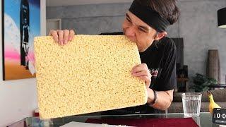 GIANT Rice Crispy Treat Challenge! (3,840 Calories)