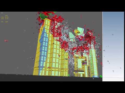CG skyscraper building demolition effects by Stefan Kleindienst, Unexpected