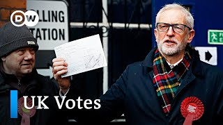UK election race tightens as voting begins | DW News