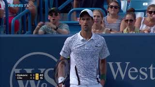Highlights: Djokovic Reaches Sixth Cincinnati Final, One Win From History