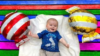 Kids play with LITTLE BROTHER Play with Balloons Video for #kids With Marik And Lika