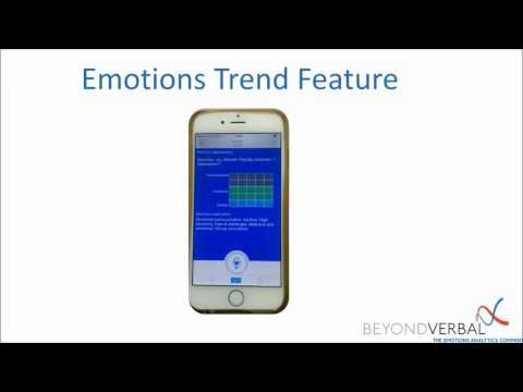 Moodies tutorial - Emotions Trend Feature