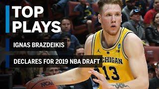 Highlights: Ignas Brazdeikis Declares for 2019 NBA Draft | Michigan | B1G Basketball