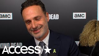 Andrew Lincoln's 'Walking Dead' Exit Dinner Ended Up With Him Being Thrown Into A Swimming Pool!