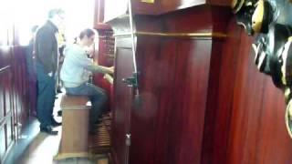 Andy on the Bader organ Zutphen