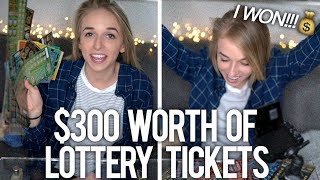 SCRATCHING $300 WORTH OF LOTTERY TICKETS