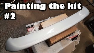Body kit is finally painted And a big update! - Project Shed Volkswagen Golf