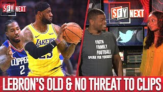 LeBron's not all in on basketball, Clippers title chances | SFY NEXT