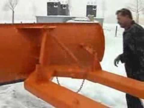 Lame chasse neige pour chariot élévateur - Axess-industries