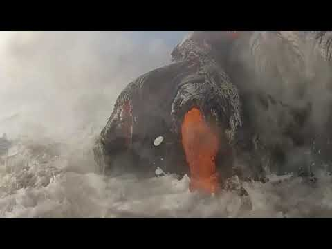 Rare Lava Hitting The Beach Footage COMPILATION