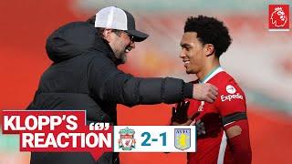 Klopp's Reaction: 'I think it was well deserved'   Liverpool vs Aston Villa